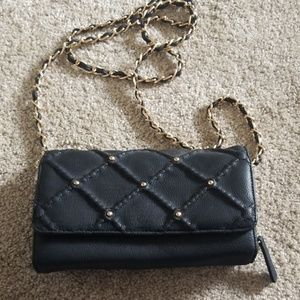 Black Purse with gold detail